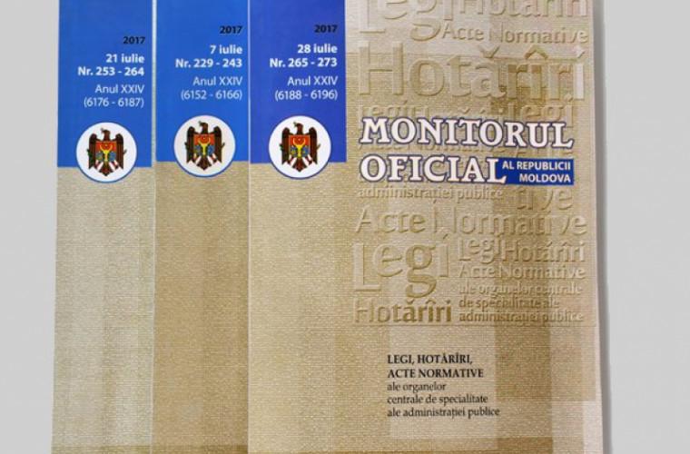 Hotărîrea privind desfășurarea referendumului republican, publicată în Monitorul Oficial
