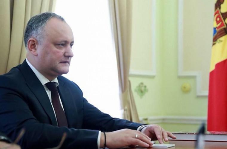 Ultima oră! Dodon a anunțat data ședinței de constituire a noului Parlament