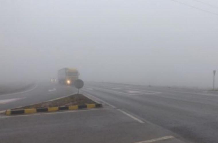 Oraşul Bălţi, acoperit de ceaţă densă