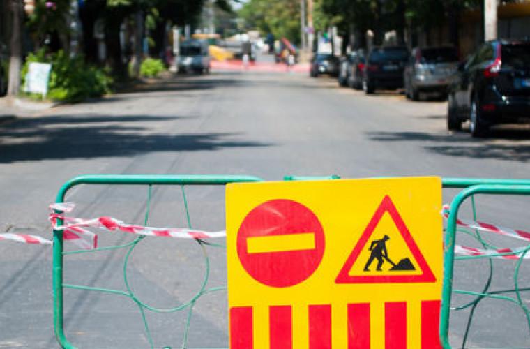 Traficul pe o stradă importantă din centrul Chişinăului va fi întrerupt