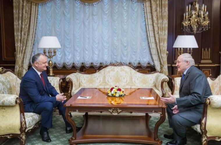 Dodon a avut o întrevedere cu Lukașenko
