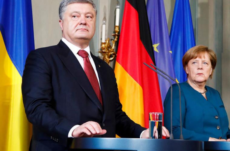 Poroșenko și Merkel au discutat despre situația din Donbass