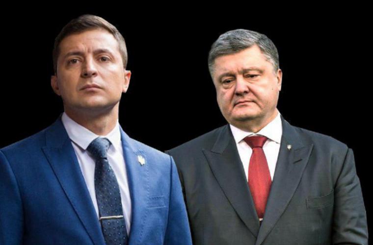 Poroșenko vs Zelenski: favoritul noului sondaj de opinie