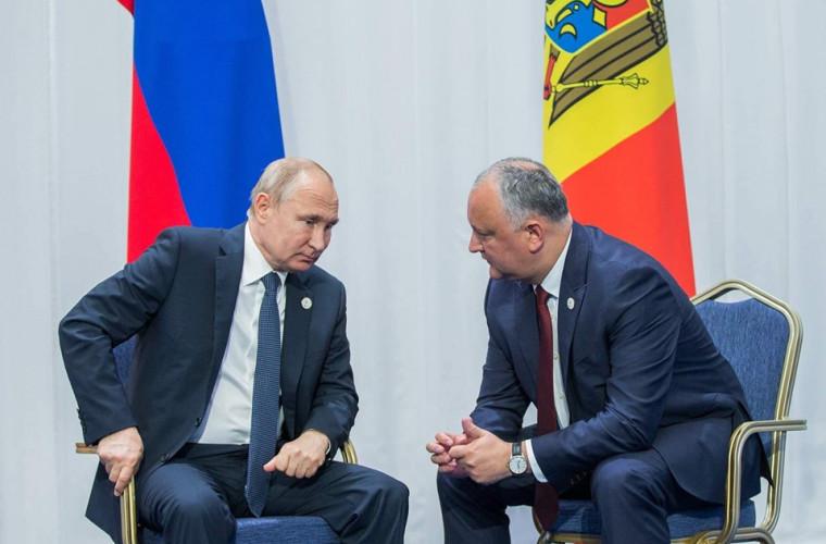 Despre ce au discutat Dodon și Putin?