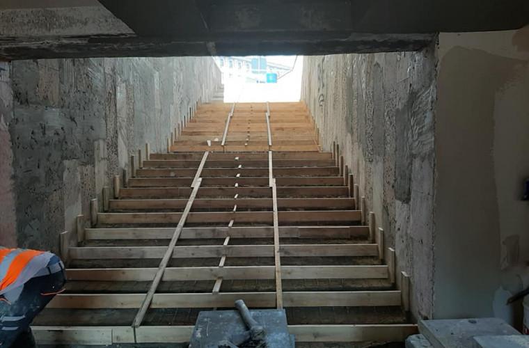 O trecere subterană din Chișinău, în proces de reabilitare. Primele imagini