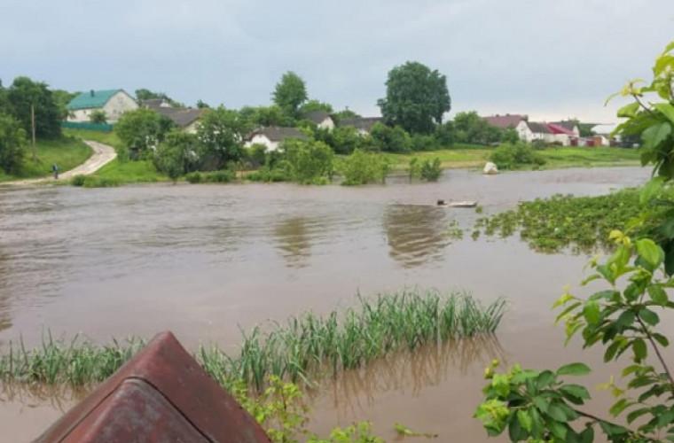 O ploaie torențială a făcut prăpăd într-o localitate din Ucraina