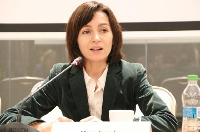 Майя Санду приветствует признание нового правительства со стороны ЕС