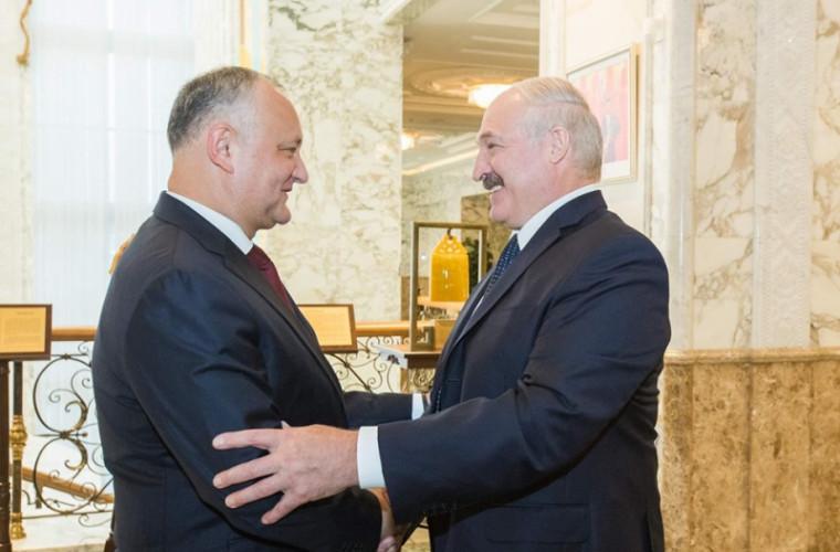 Igor Dodon s-a întîlnit cu Alexandr Lukașenko: Despre ce au discutat