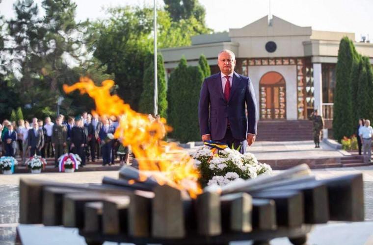 Dodon, mesaj în memoria victimelor căzute în Marele Război pentru Apărarea Patriei