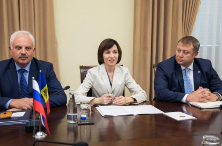 Майя Санду встретилась с российским вице-премьером Дмитрием Козаком