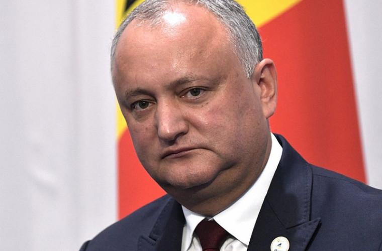 Dodon a anunţat priorităţile pentru reglementarea diferendului transnistrean