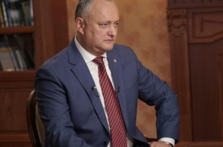 Dodon: Dacă va rezista cel puțin un an coaliția, ne apucăm de problema transnistreană