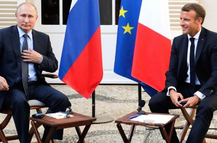 """Cei de la Kiev au numit întîlnirea Putin-Macron drept """"înmormîntarea sancțiunilor"""""""