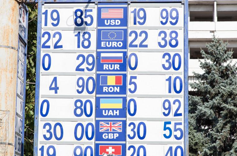 Cursul valutar BNM pentru 30 august