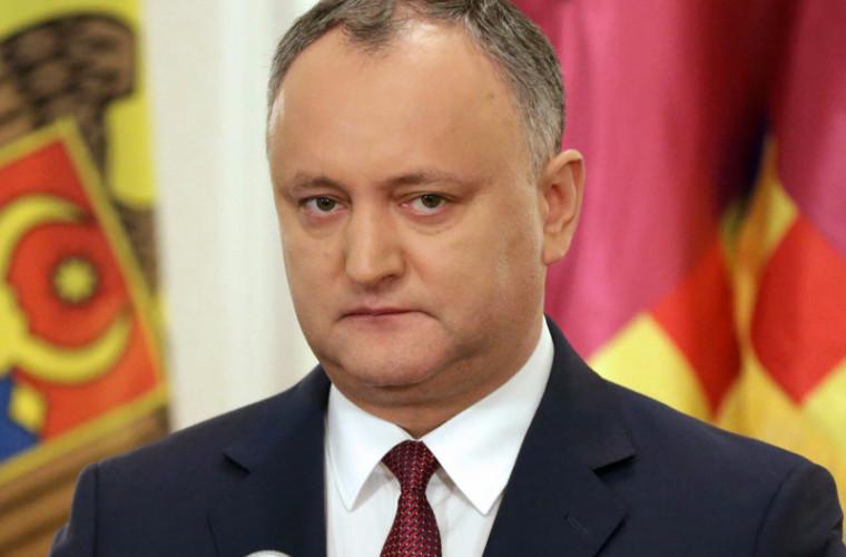 Dodon se va întîlni la Bruxelles cu secretarul general al NATO, Jens Stoltenberg
