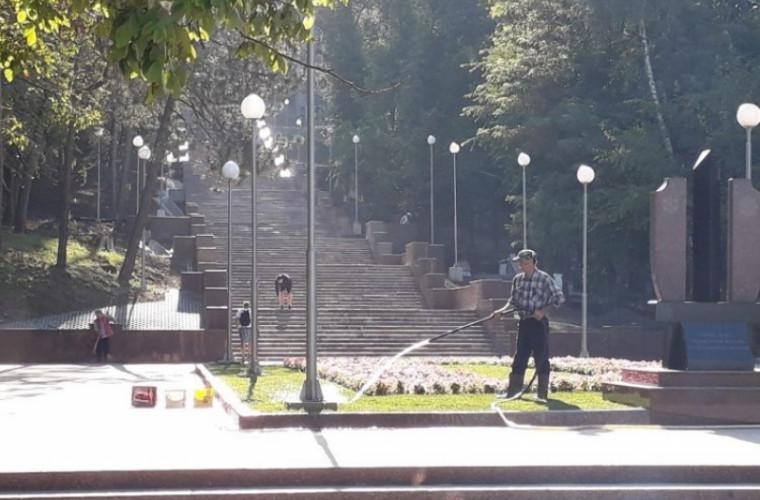 """Cît a costat reconstrucția scărilor de granit din parcul """"Valea Morilor"""""""