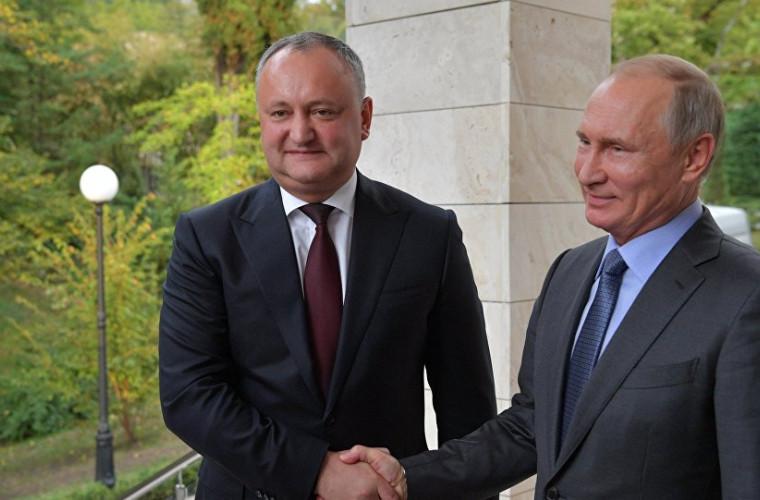 Dodon a spus ce trebuie pentru ca Putin să vină în Moldova