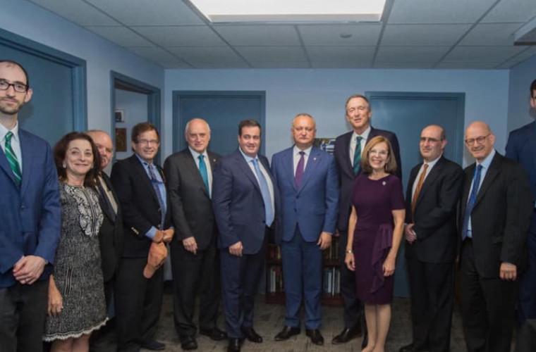 Dodon s-a întîlnit la New York cu reprezentanții unor organizații evreiești influente