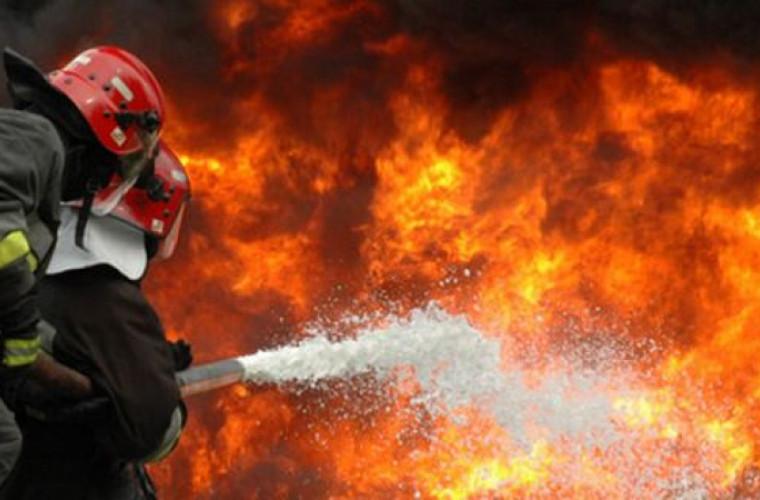 Incendiu în sectorul Ciocana al Capitalei