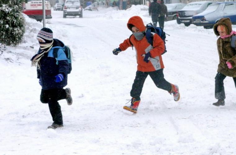 Chicu, atenţionare către autorităţi: Drumul spre şcoală iarna să nu fie un eroism