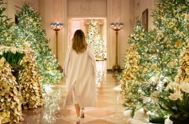 La Casa Albă s-au aprins luminițele de sărbătoare (VIDEO)