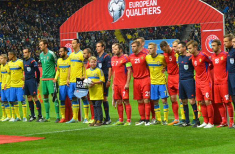 Naționala de fotbal a Moldovei va juca un meci cu Suedia