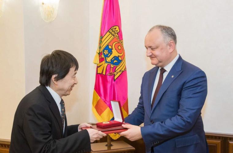 Dodon pledează pentru dezvoltarea cooperării cu Japonia