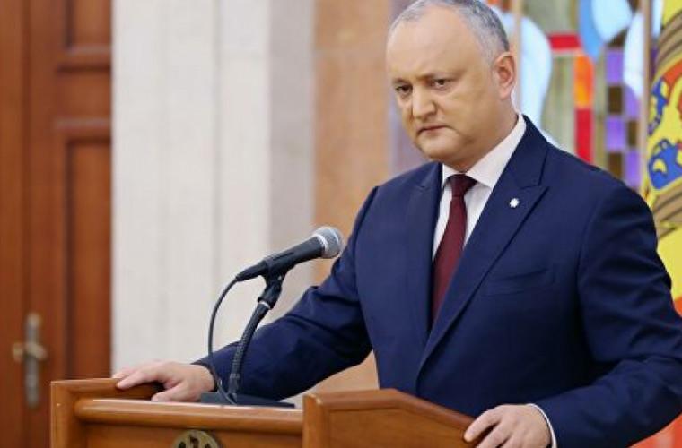 Додон: В Конституции Молдовы заложен механизм разрушения государственности. Это необходимо изменить