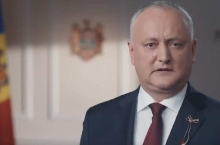 Președintele a felicitat moldovenii cu sosirea primăverii (VIDEO)