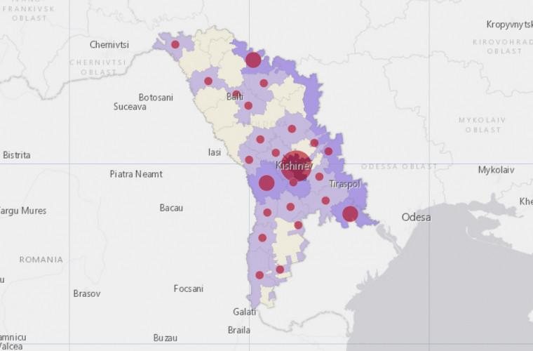 Distribuția pe raioane. Cîți bolnavi de coronavirus sînt în localitățile din Moldova