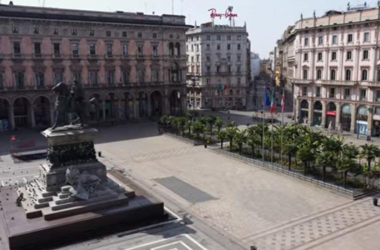 Străzile din Milano, mai pustii ca niciodată (VIDEO)