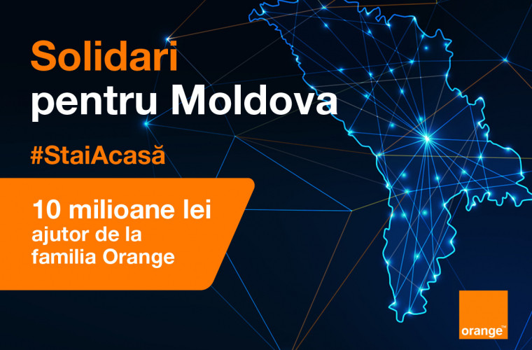 #Solidari pentru Moldova. 10 milioane de lei ajutor din partea familiei ORANGE