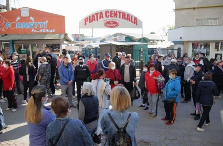 Poliția a împiedicat comercianții din Bălți să intre în piețele din oraș
